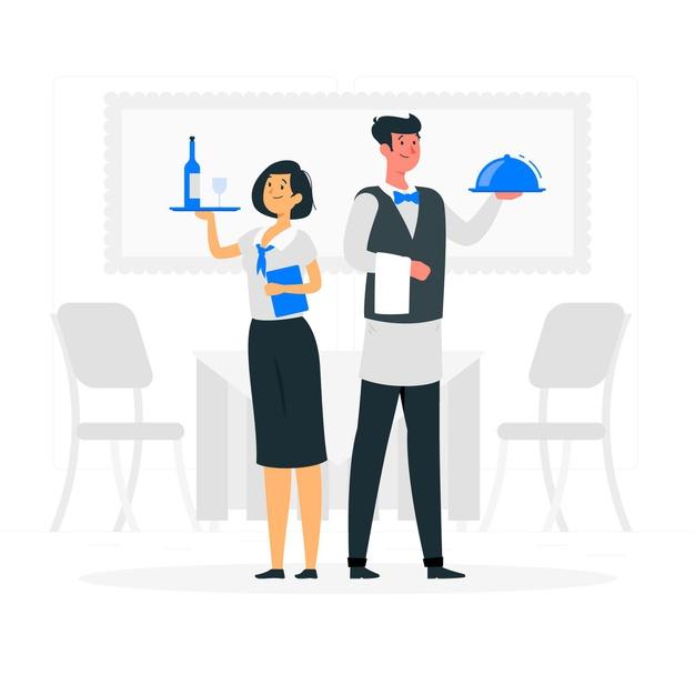 waiters-concept-illustration_114360-2782